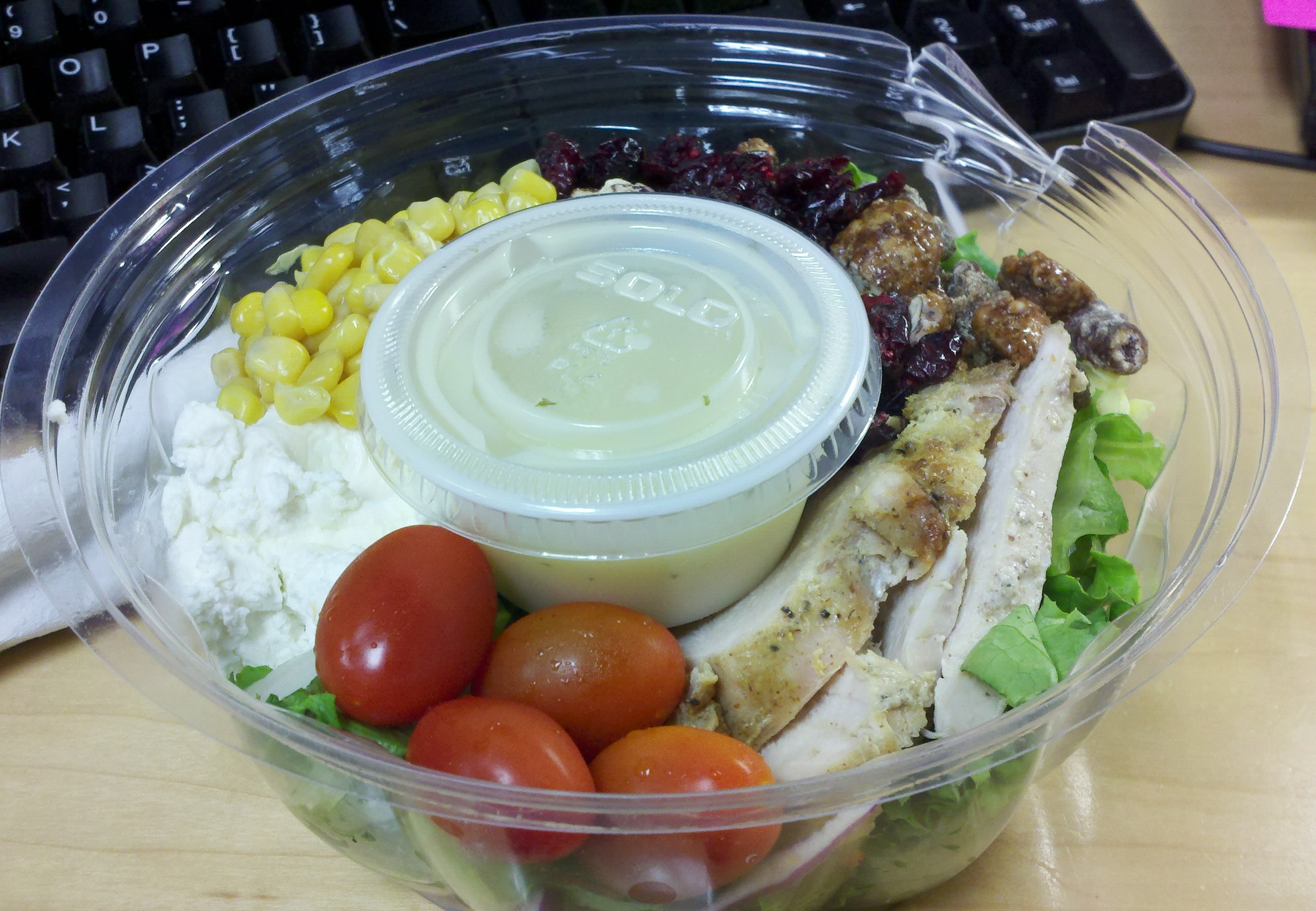 Brown Bag's Roasted Chicken Salad (my favorite). Mixed Greens ...
