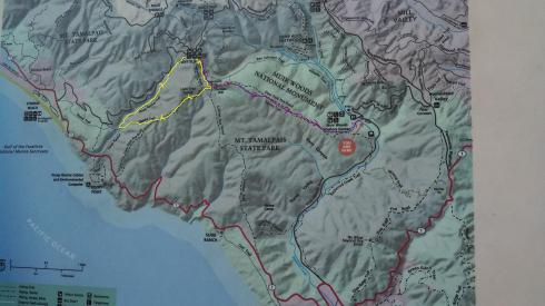 mt tamalpais map